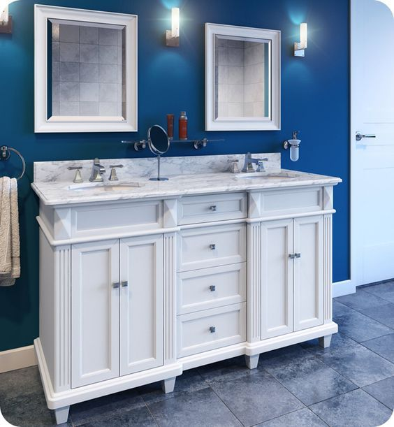Get it now! Pre-manufactured vanities to instantly improve your space! www.lakesidecabinets.com