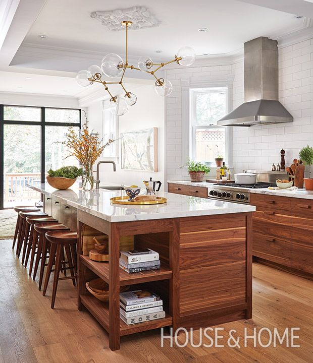 Modern Victorian - To respect this Toronto Victorian semi's heritage, designer Sam Sacks mixed old and new to give the kitchen a modern feel. | Photo: Donna Griffith