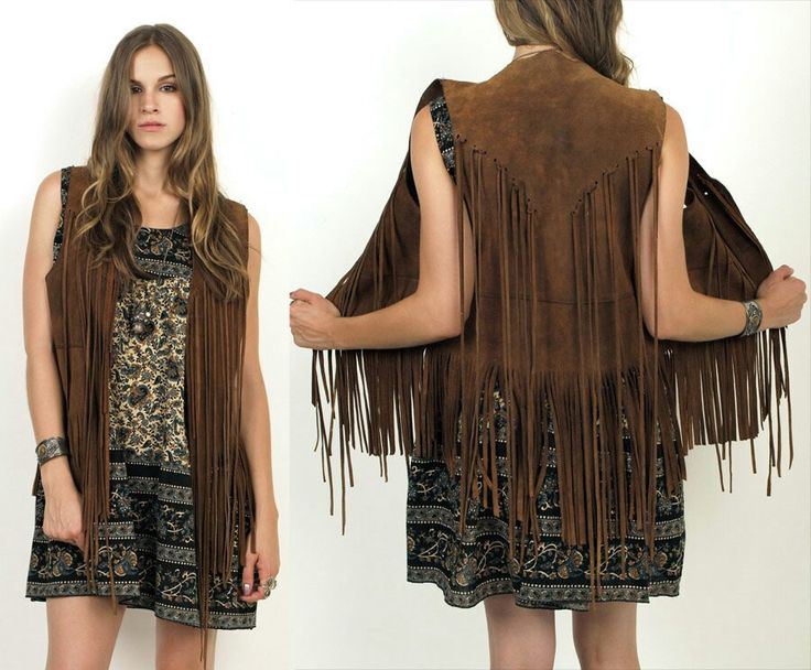 Tassled leather vest