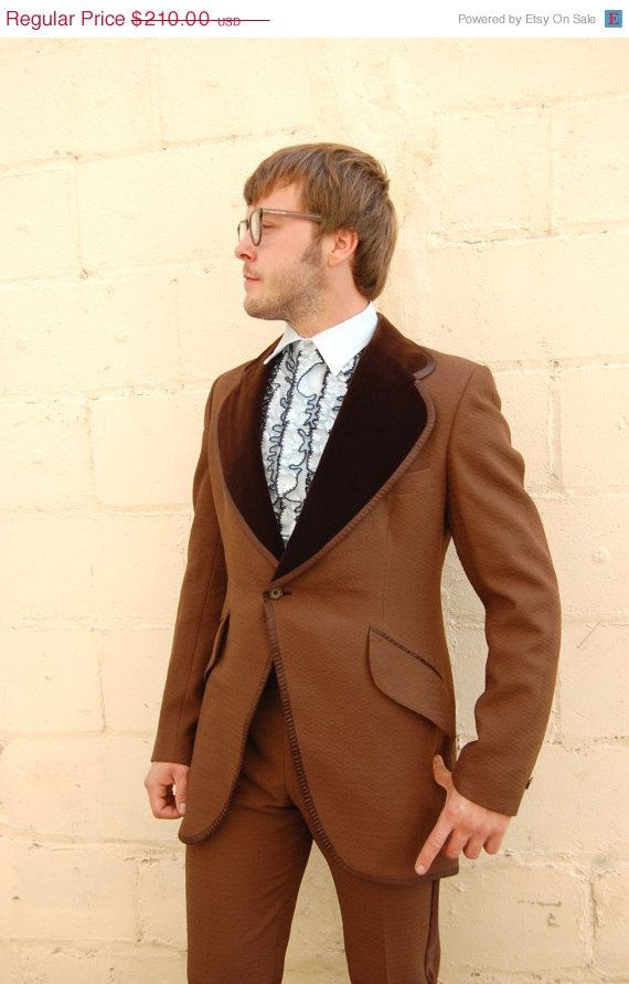 Soft brown jacket look.   ON SALE NOW Motown Chocolate Brown Tuxedo  by FrocksnFrillsVintage