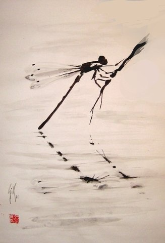 Tombo dragonfly is a symbol for the samurai that represents to never give up as the dragonfly doesn't fly backwards.