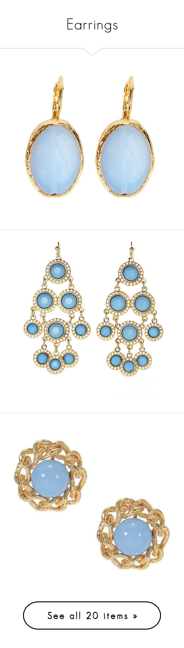 """Earrings"" by jmcwilliams275 ❤ liked on Polyvore featuring jewelry, earrings, nakit, moonstone earrings, brass jewelry, blue moonstone jewelry, blue earrings, gold plated jewellery, fish hook jewelry and chandelier jewelry"