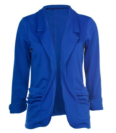 Blue Ruched Pocket Detail BlazerLight Pink Blazers, Fashion, Clothing, Pocket Details, Blue Ruched, Details Blazers, Blue Blazers, Blazers Saco, Ruched Pocket