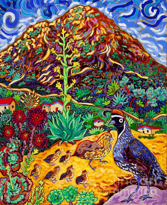 Quail Crossing | Animal art, Colorful art, Painting