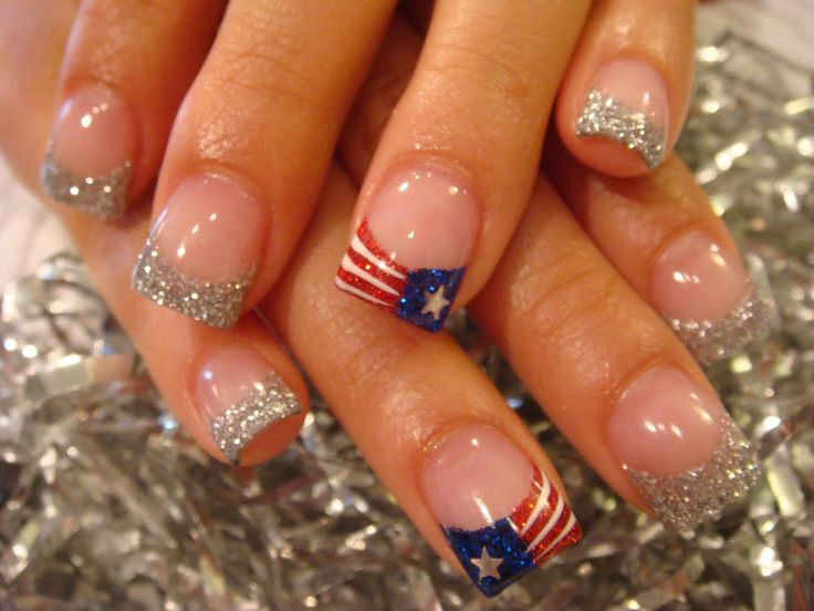 Patriotic and sparkly! Perfect for 4th of July or Memorial Day!