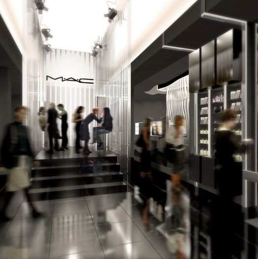 Mac Cosmetics Store Times Square  #applestorearchitectureretail Pinned by www.modlar.com