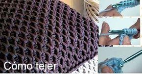 Cómo se teje el punto panal de abeja o colmena en crochet tunecino