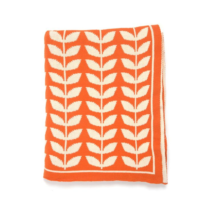 Tulip Fields Throw in Orange | dotandbo.com