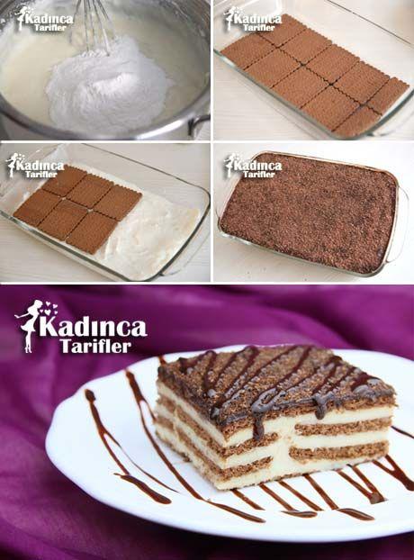 Muhallebili Bisküvi Pastası Tarifi
