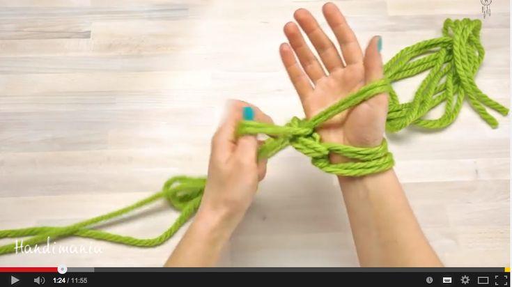 DIY Warme dikke sjaals maken met je handen
