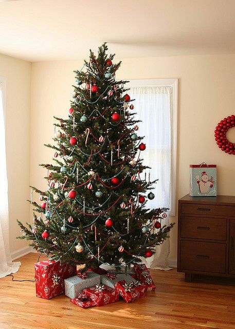 Christmas Tree I Prefer Trees With Only Silver Gold Green And Red Decorations White Lights It Looks Less Gawdy More