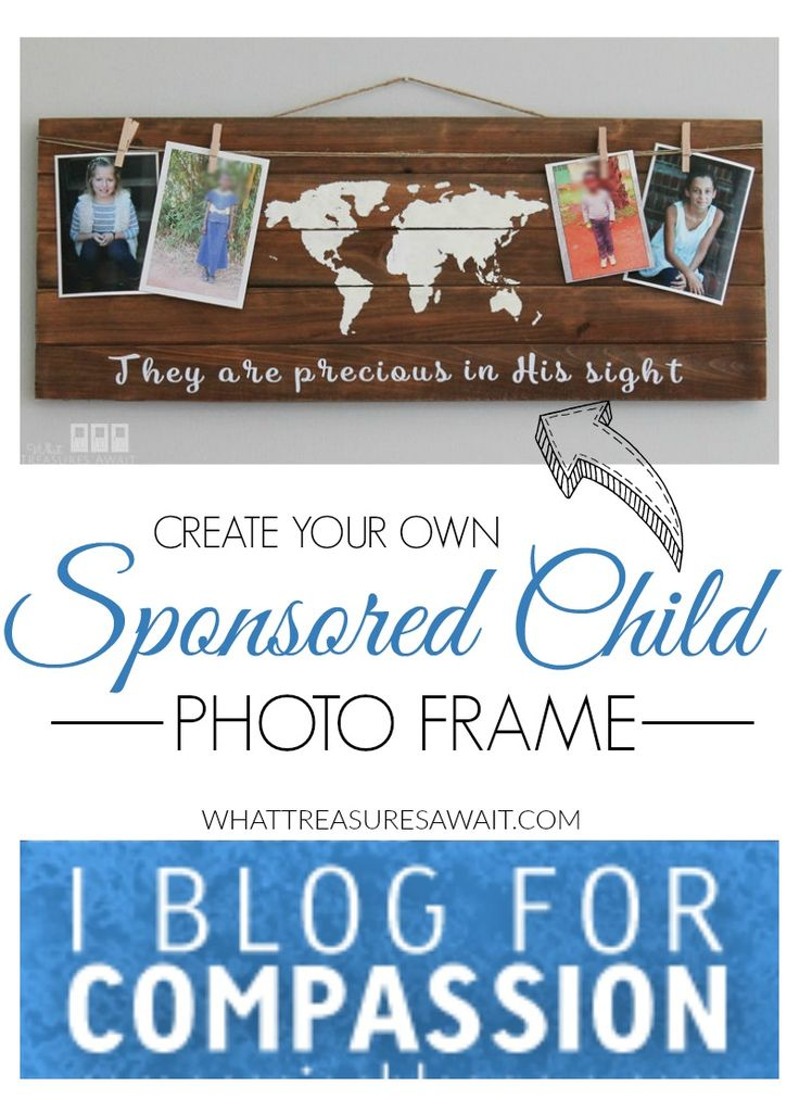 Create your own sponsored child photo frame!