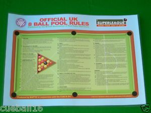 billiard table rule sign | ... SUPERLEAGUE-POOL-TABLE-OFFICIAL-MADE-BY-B-A-P-T-O-UK-8-BALL-POOL-RULES