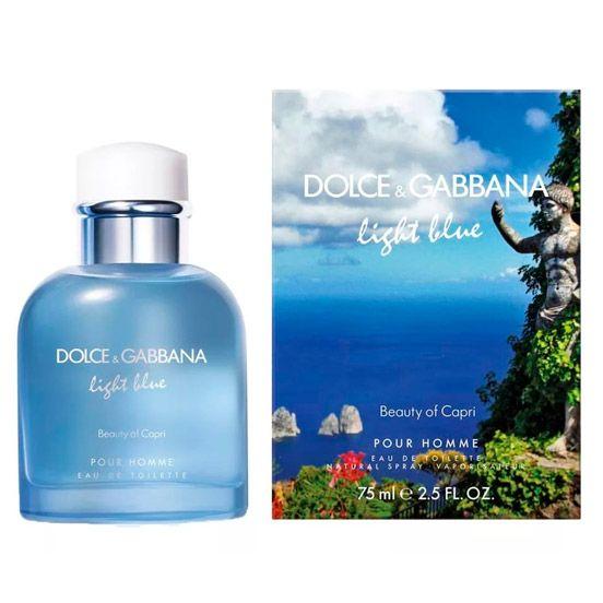 Купить Dolce and Gabbana Light Blue Pour Homme Beauty of Capri за 2155 руб #DolceGabbanaForMen #духи #парфюм #парфюмерия Шум нежной волны, ласковое солнце, изгибы гор и острые листья пальм. Завораживающая красота острова в Средиземном море близ Италии – Капри – никого не оставляет равнодушным. Beauty
