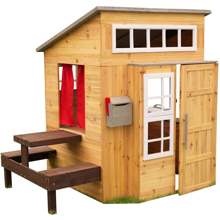 Avec la cabane d'extérieur en bois de la marque KidKraft, vos enfants pourront explorer un tout nouveau monde sans sortir du jardin.