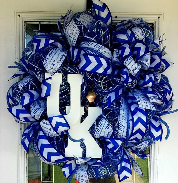 University of Kentucky deco mesh wreath https://www.etsy.com/listing/239429295/university-of-kentucky-deco-mesh-wreath
