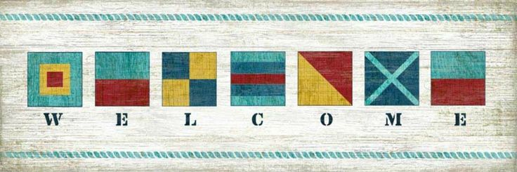 So fun and full of bright colors and perfect for any beach cottage!