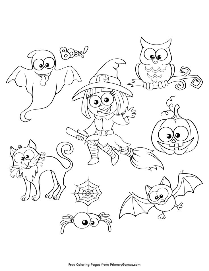 Free Printable Halloween Coloring Pages For Use In Your Classroom And Home From PrimaryGames