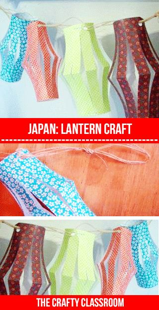 Japanese Art for Children- make mini lanterns and twine to string