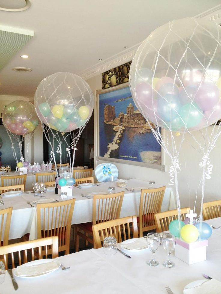 116 best balloons hot air balloon images on pinterest for Balloon decoration ideas for christening