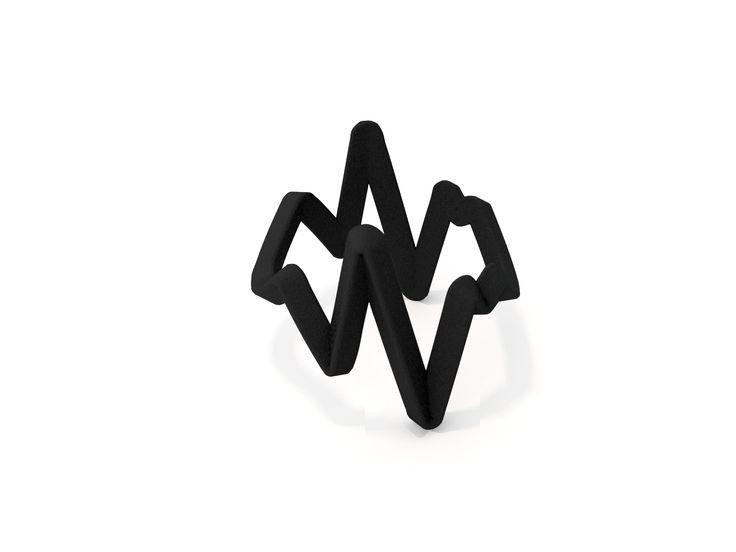 Anel fosco, em impressão de nylon na cor preto, produzido em material maleável e resistente nos tamanhos P | G | GG. #FujaDoTédio #UseNoiga #MadeInBrasil #3DPrint #Noigando
