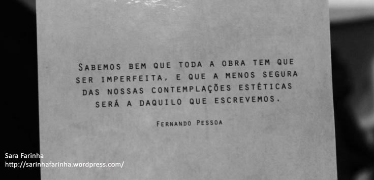 Fernando Pessoa inspira a produção desta obra