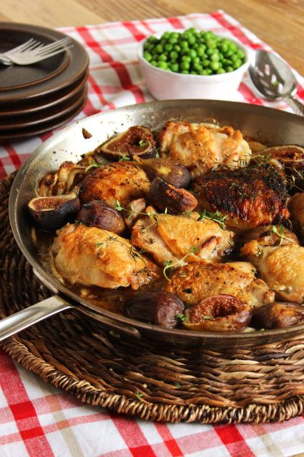 Pan-Roasted Crispy Chicken Thighs with Figs | The Suburban Soapbox