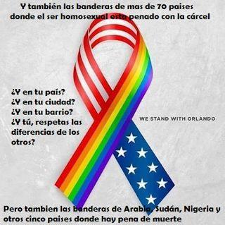 No a la homofobia ni en Orlando ni en ningún rincón del mundo
