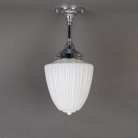 Badkamer Plafondlamp/Hanglamp Antique. Verkrijgbaar bij www.antiekstijlwebwinkel.nl.
