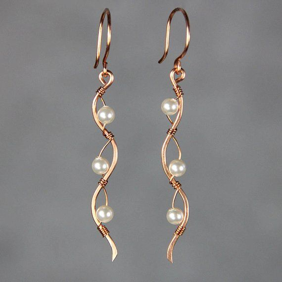 Gold spiral earrings long gold earring Wire wrapped earrings gift for her 14k gold filled earrings,Simple modern jewelry Womens Jewelry