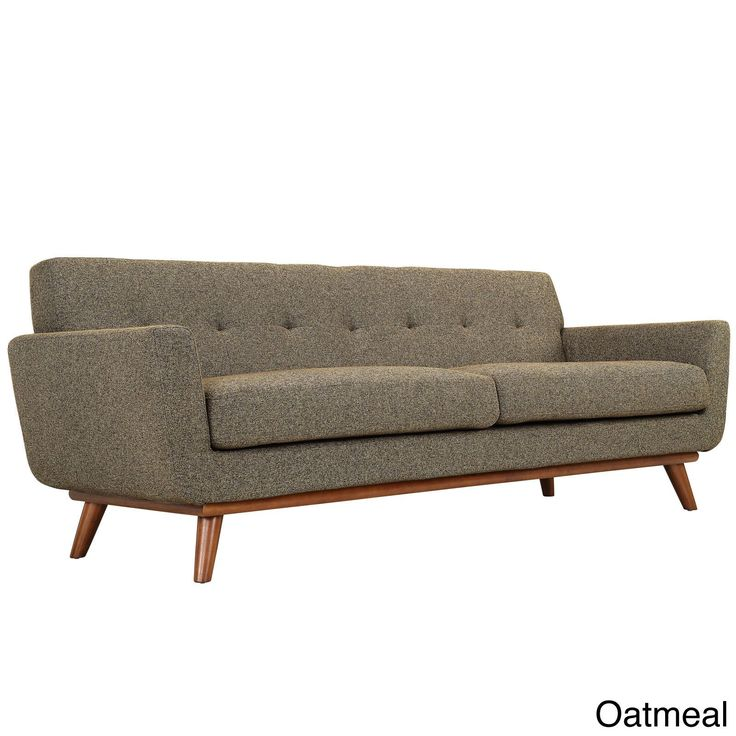 Modway Engage Mid Century Sofa (Oatmeal), Brown