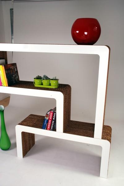 Libreria in cartone riciclato mod. Vimini
