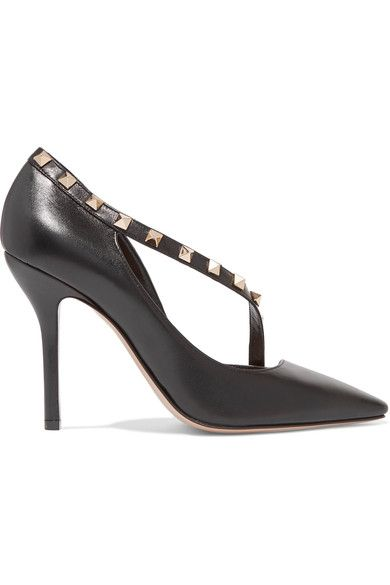 Valentino - Rockstud Two-tone Leather Pumps - Black