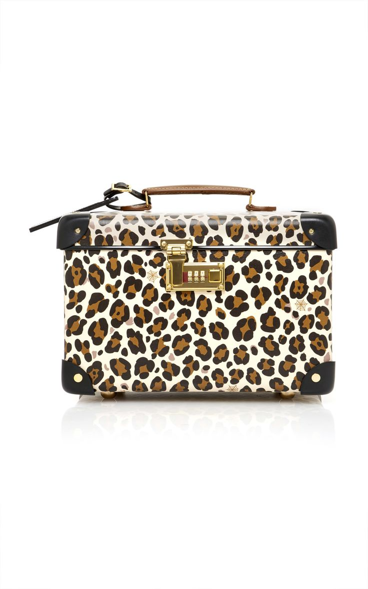M'O Exclusive: Charlotte Olympia x Globe-Trotter Leopard-Print Leather Vanity Case by CHARLOTTE OLYMPIA Now Available on Moda Operandi