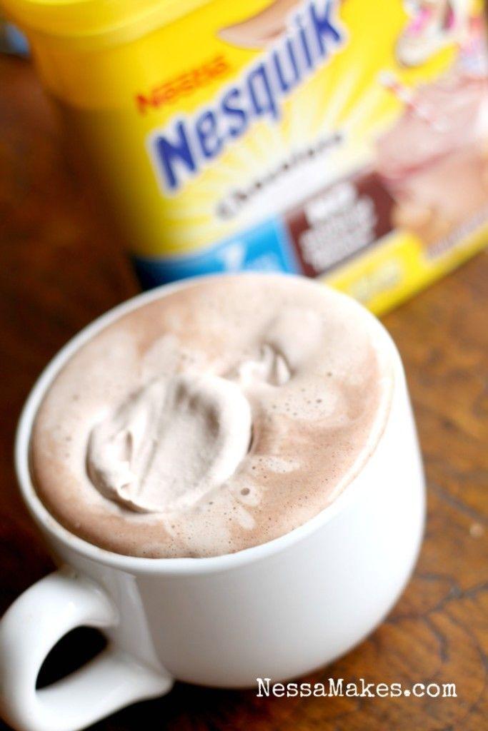 Nesquik Hot Chocolate with Nesquik Whipped Cream Recipes