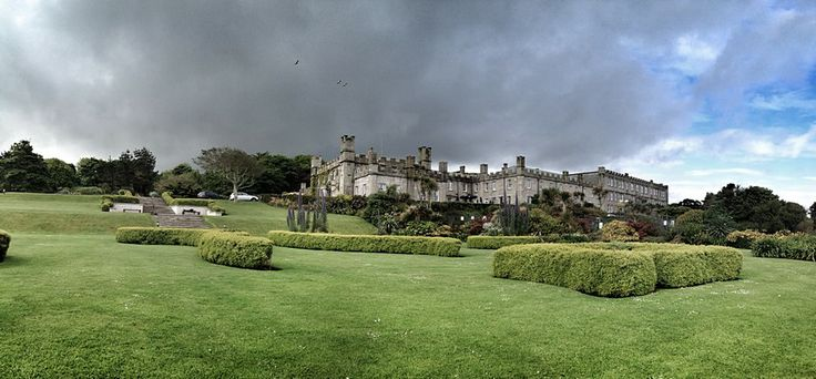 The view from the lawn looking at Tregenna Castle wedding