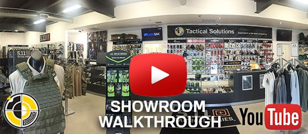 Tactical showroom with operational gear