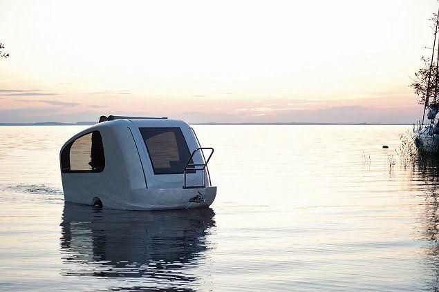 caravan that becomes a boat !