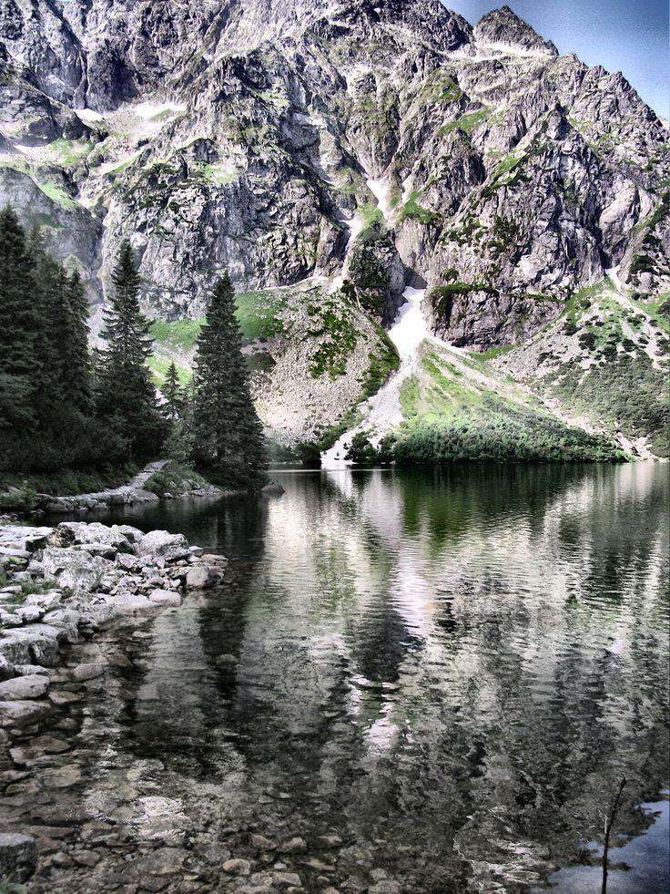 Tatry - nad Morskim Okiem #Morskie #Oko #Mięguszowieckie #Szczyty #krajobrazy #górskie #Poland #Polska #zdjęcia #HDR #photography #landscapes #góry #Mountains #Tatry #Tatra #Mountains