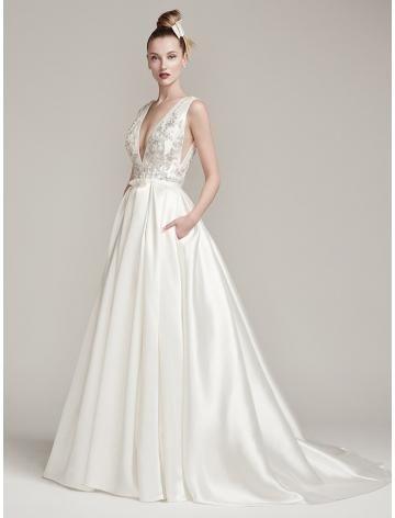 elegante taft bruids trouwjurken