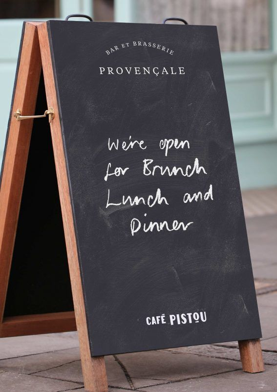 Cafe Pistou A-Board