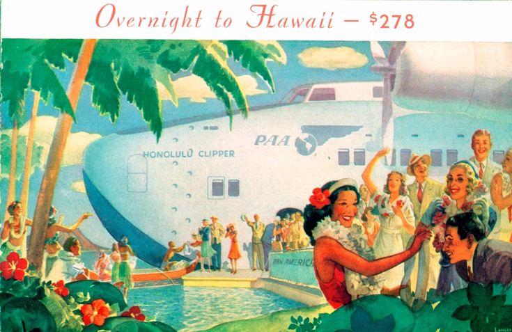 Pan Am Brochure, Overnight to Hawaii
