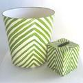 office. waste basket + tissue holder