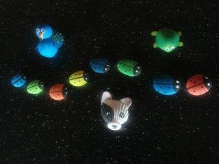 Saskia's knutsel blog: Painted Stones & Shells as Animals