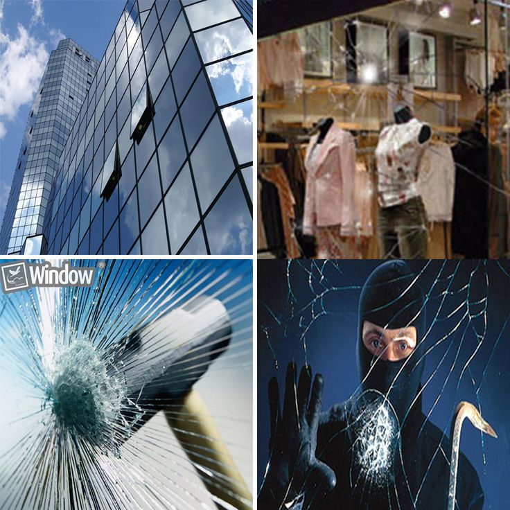 100cm x 30m 2MIL Safety Window film Transparent Glass shatter Films
