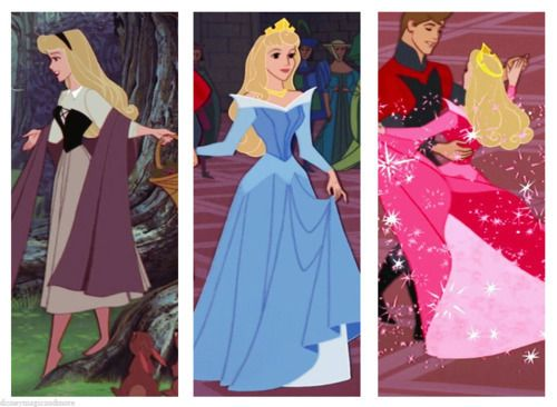 Princess Aurora. This is probably weird but her Once Upon A Dream dress is my favorite. It's my favorite Disney Princess non ball gown dress. Belle's ball gown wins though.<3