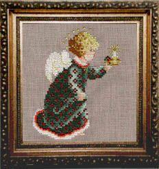 Free Cross Stitch Pattern:   2001 Christmas Angel