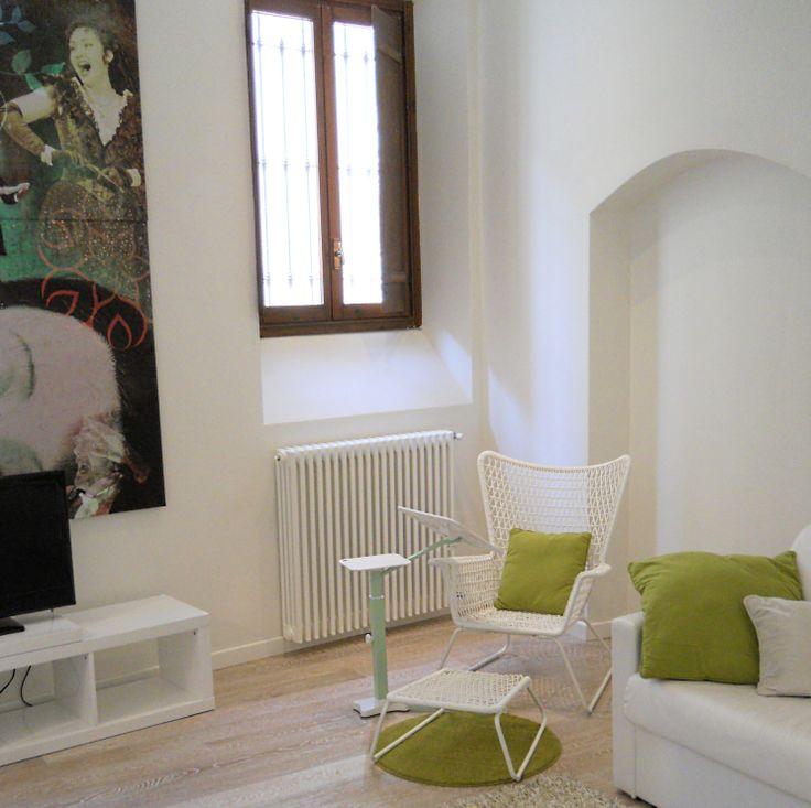 Lounge-tek in apartment residence Juliet House Verona