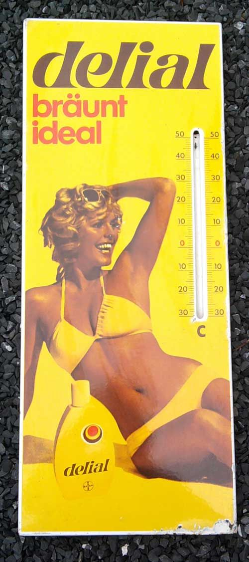 German commercial for sun tan lotion from the 1980s How well I remember!