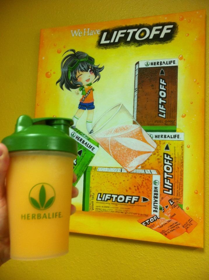Liftoff! Great energy!   For this Energy bomb that supports weight loss, use Liftoff, Prepare, and beverage mix!Herballife